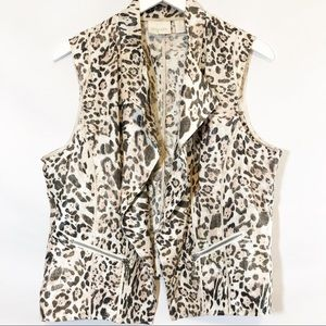 Chico's animal print vest sz 2 (L)